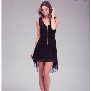 NWT Bebe Coleman High Low Zipper Dress